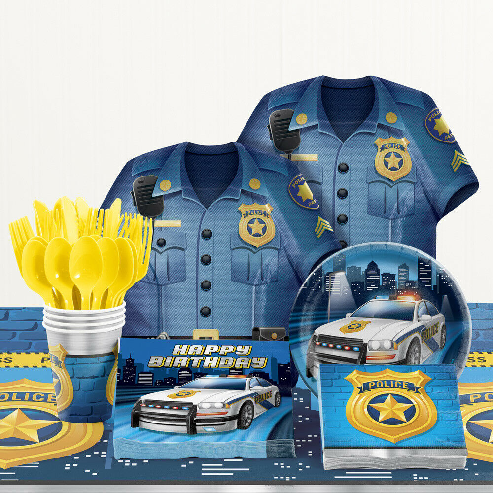 Creative Converting 329385 192-Count Lunch Paper Napkins Police Party