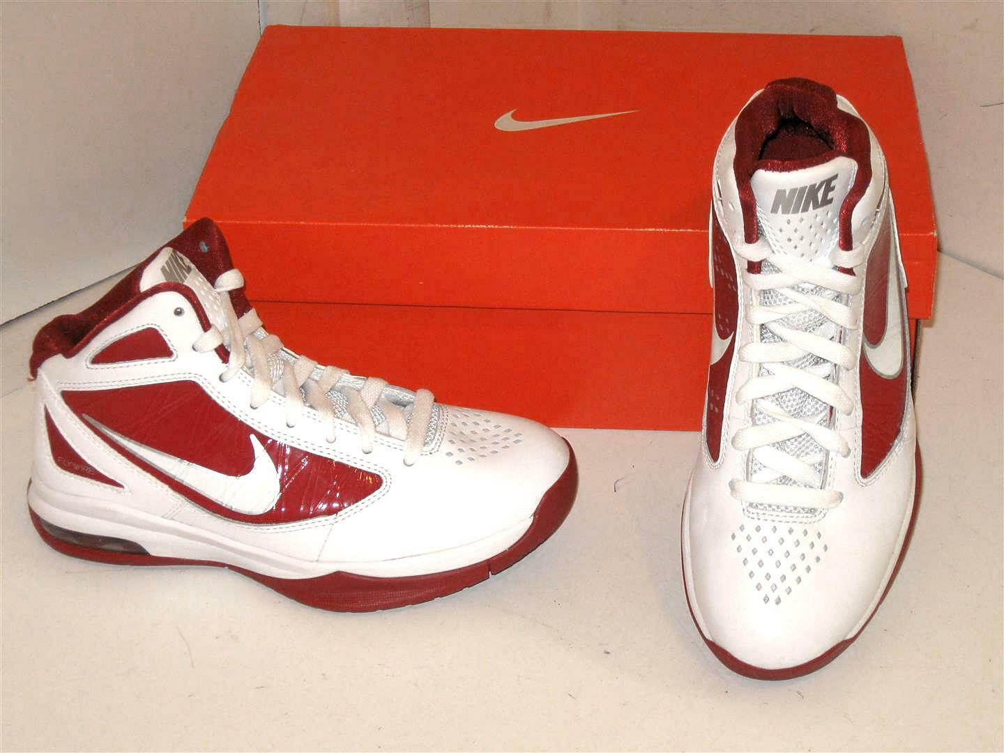 Nike Air Max Destiny TB Basketball White & Red Sneakers Athletic Shoes Mens 17 Seasonal clearance sale