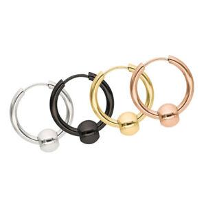4Pcs-316L-Stainless-Steel-Unisex-Hoop-Earring-Piercing-Huggie-Hypoallergenic