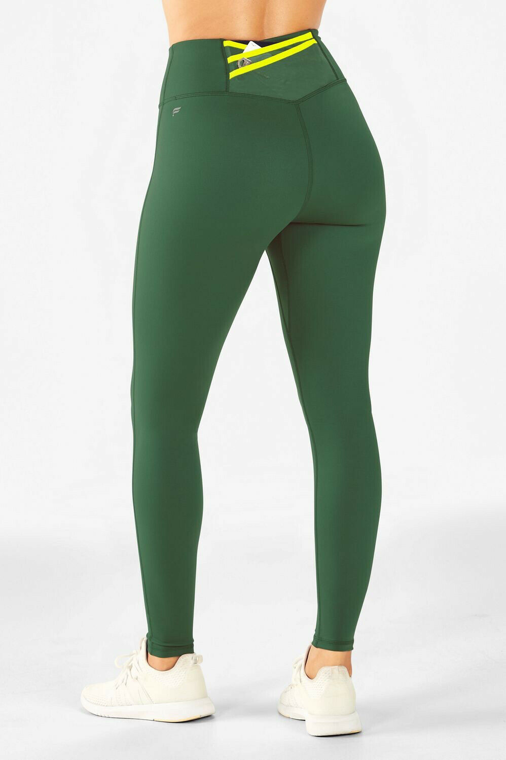 Fabletics Trinity high-waisted pocket legging Forest Green XS