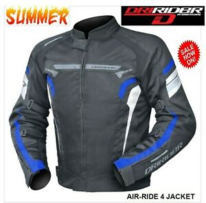 NEW-Dririder-AIR-RIDE-4-Motorcycle-Jacket-VENTED-Yam-Blue-Summer-Road-rrp-199