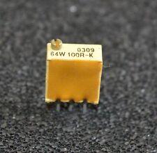 2 X (2 pieces) 100R Multiturn pot Potentiometer Spectrol 64W  (L3423)