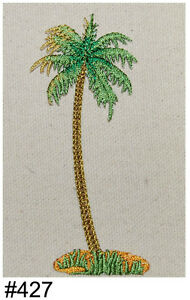 1PC~TROPICAL PALM TREE~IRON ON EMBROIDERED PATCH