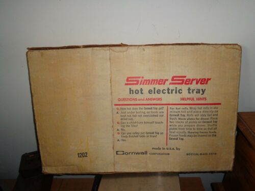 VINTAGE CORNWALL SIMMER SERVER HOT ELECTRIC TRAY MODEL 1202 New UNOPENED