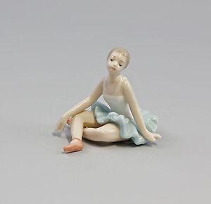 9973001-Porcelaine-Figurine-Fille-Ballerine-Danseuse-Vert-Second-Choix