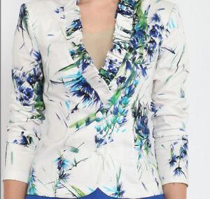 Suits & Suit Separates Women's Clothing Radient Damen Kurzblaser Blazer Jacket Gr.36/xs Baumwollemischung Von Lissa