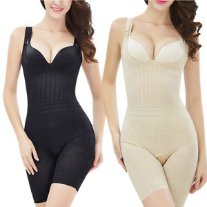 cd0948651750d Details about Full Body Shaper Waist Cincher Corset Stretch Underbust  Bodysuit Tummy Shapewear