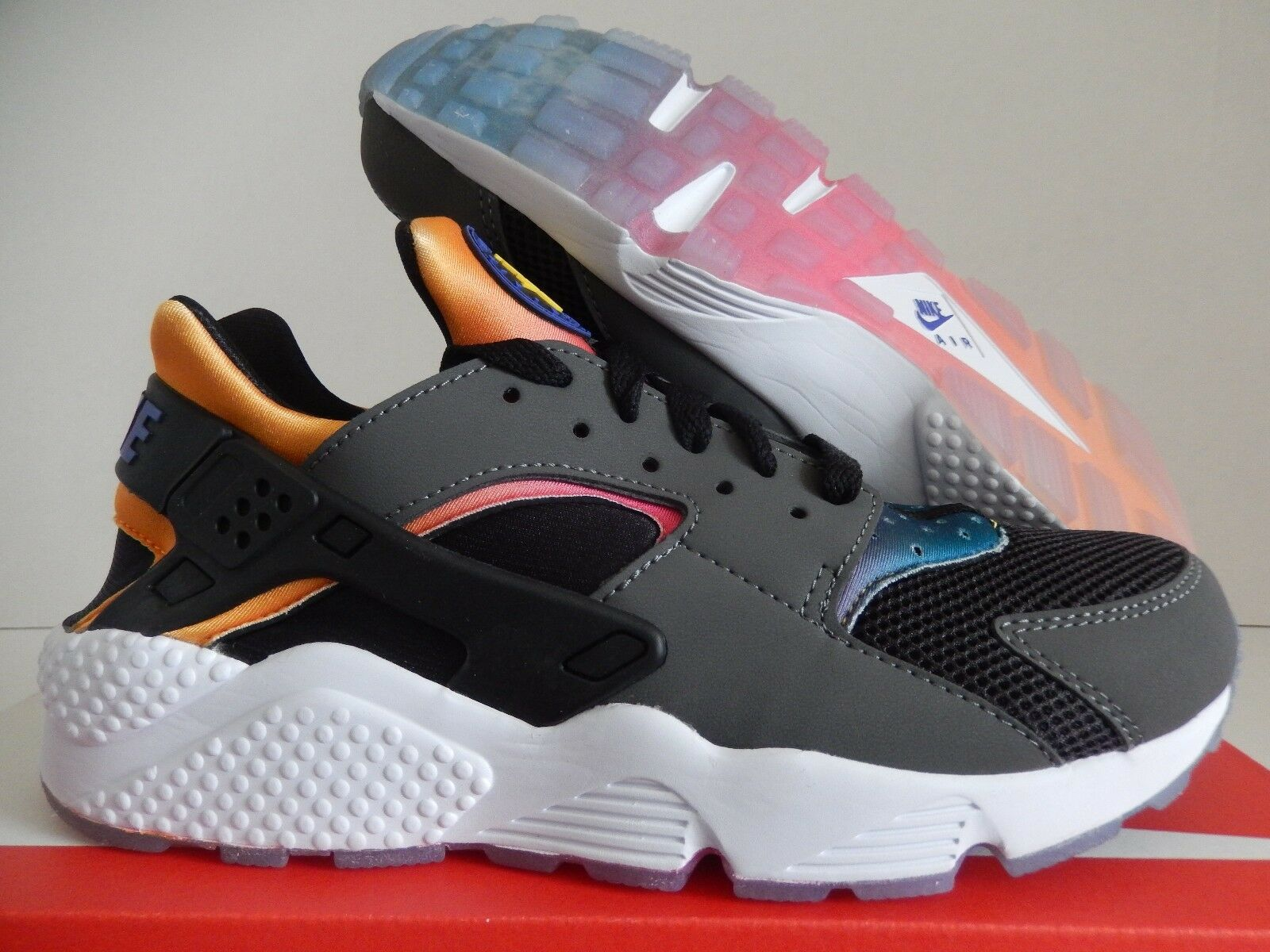 NIKE AIR HUARACHE RUN SD BLACK-VIOLET-TOUR YELLOW-PINK POW Price reduction Cheap and beautiful fashion