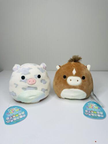 "Squishmallow 5/"" Flipamallow Rosie Pig// Harry Horse Kellytoy Plush NWT"