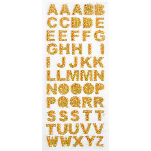 Self Adhesive DIY A-Z Alphabet Decor Glitter Crystals Letter Home Stickers YK