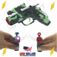 Electric Shock Gun Pistol Shocking Prank Flashlight Laser Pointer Trick Fun Toy on sale