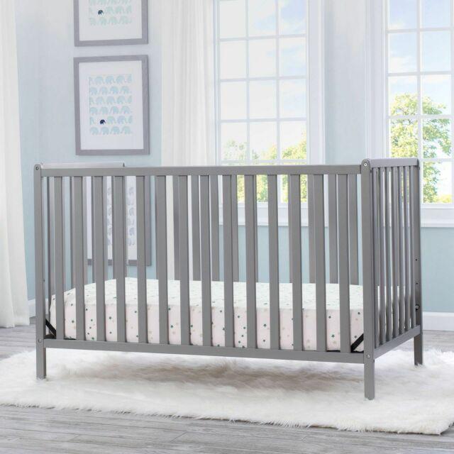 Delta Children Heartland 4 In 1 Convertible Baby Crib Grey For Sale Online Ebay