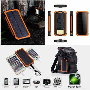 100000mah solar power bank led 2usb zusatzakku externes batterie ladeger t akkus ebay. Black Bedroom Furniture Sets. Home Design Ideas