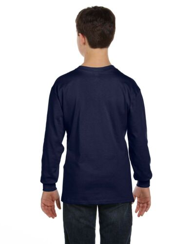 Hanes Beefy Tee Boys/' Long Sleeve T-Shirt Size 8 Medium 14-16 XL