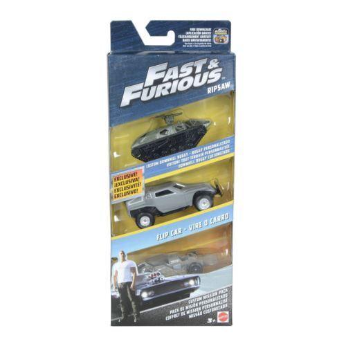 Fast and Furious FCG06 3 pacco di automobili missione personalizzato