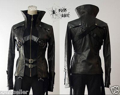 Fashion Unisex Punk Kera Streampunk Visual Kei Gothic short Fashion Jacket Coat