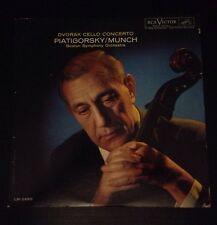 Piatigorsky, Munch: Dvorak Cello Concerto -RCA Shaded Dog LP LM-2490 1961