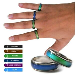 AMAZING COLOUR CHANGING MOOD RING NOVELTY GIFT BIRTHDAY PARTY BAG FILLERS GIRLS