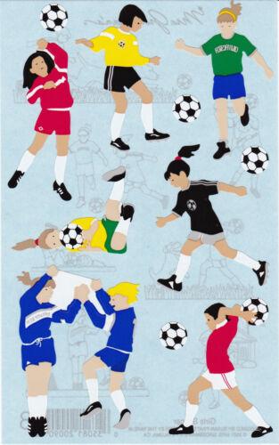 2 Strips Soccer Girls Grossman/'s Giant Stickers Soccer Balls Goalie Mrs