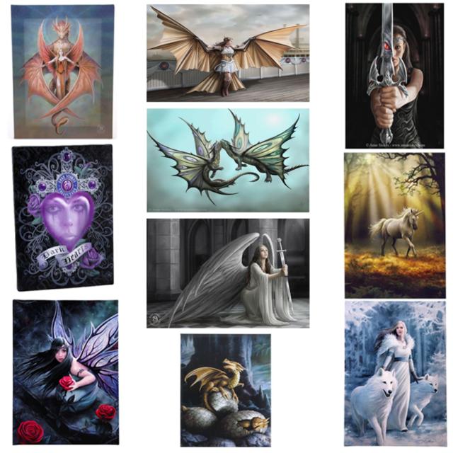 Gothic Dragon /&  Fairy//Angel Retro Repro Metal Signs