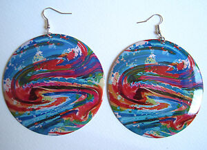 AZTEC-GALAXY-SWIRL-ART-ETHNIC-EARRINGS-INDIE-GRUNGE-NEO-SOUL
