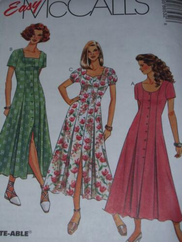 McCALL/'S #8653-LADIES MID CALF FLARED DRESS w//NECKLINE VARIATIONS PATTERN 6-24FF