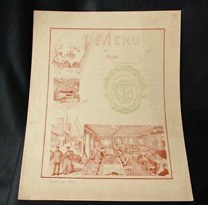 Image Is Loading CGT FRENCH LINE Schutz Design Blank Menu 1887