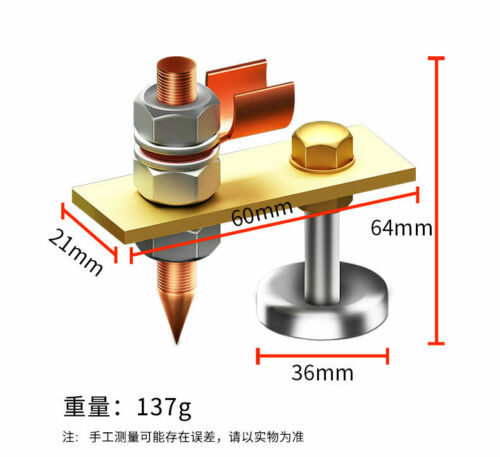 New Welding Strong Magnetic Ground Earth Block Clamp Magnetic Suction Type