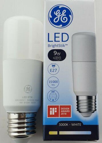 X4 GE 9W LED ES 3000K 9 WATT E27 STICK LAMPS 810lm WARM WHITE