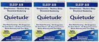 3 Pack Boiron Quietude Natural Sleep Aid Sleeping Pills 60 Dissolving Tablets Ea on sale