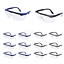 thumbnail 1 - 8PCS Safety Glasses for Dart War Kids Outdoor Games Clear Lens Protective Goggle