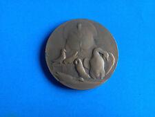 Médaille Bronze Aviculture 1952 Signée Albert HERBEMONT / Antique French Medal