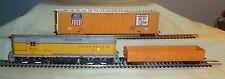 Athearn SD9 Union Pacific #457 Pwr + Tyco 62' DD Box Car & Gondola No Box HO