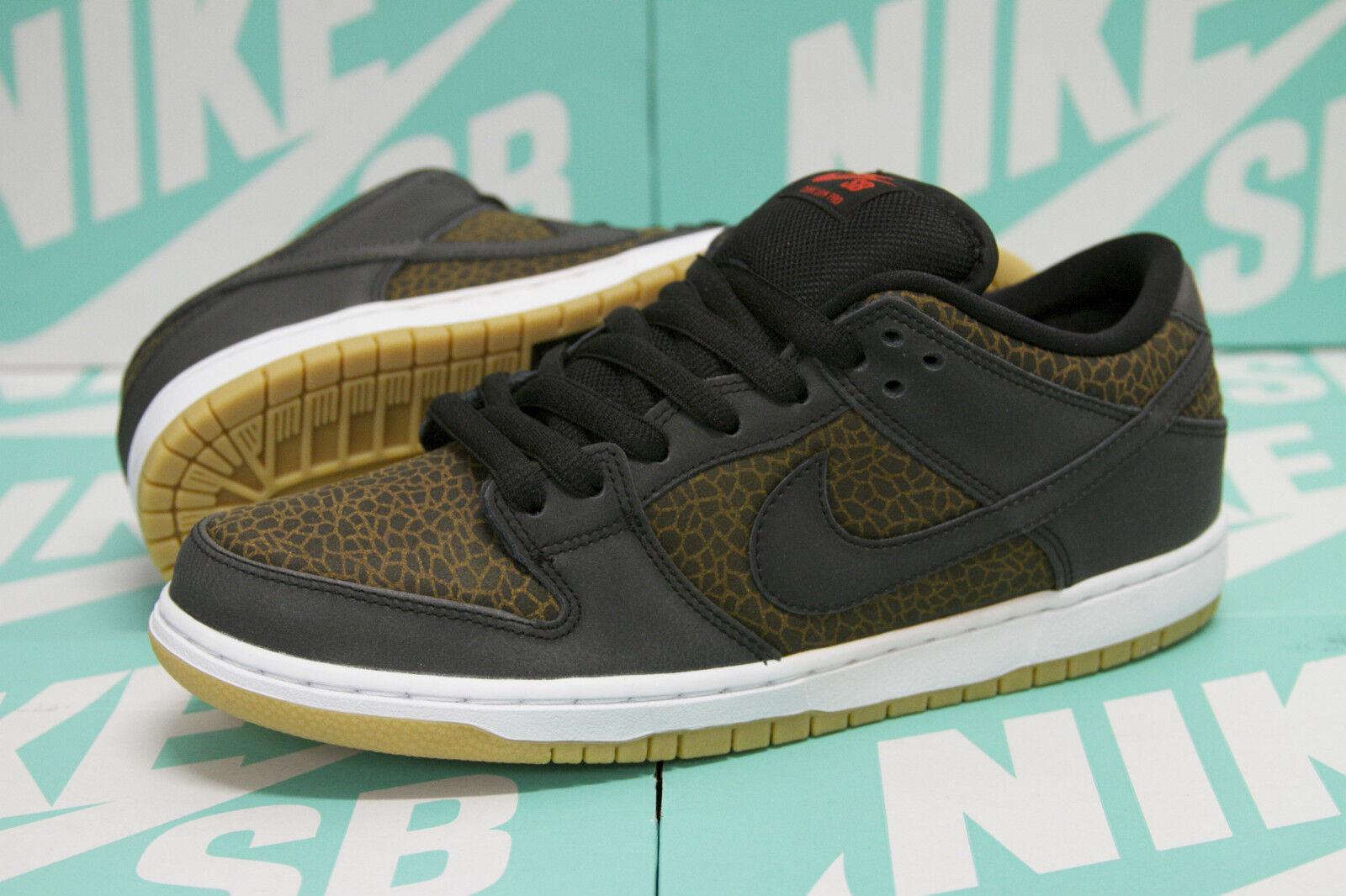 Nike SB Dunk Low Premium Safari - Black / Team Orange 313170 018 New Size 8.5