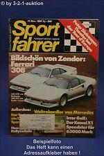 Sportfahrer 11/81 Ferrari 308 GTB + GTS Vector Kamei X1