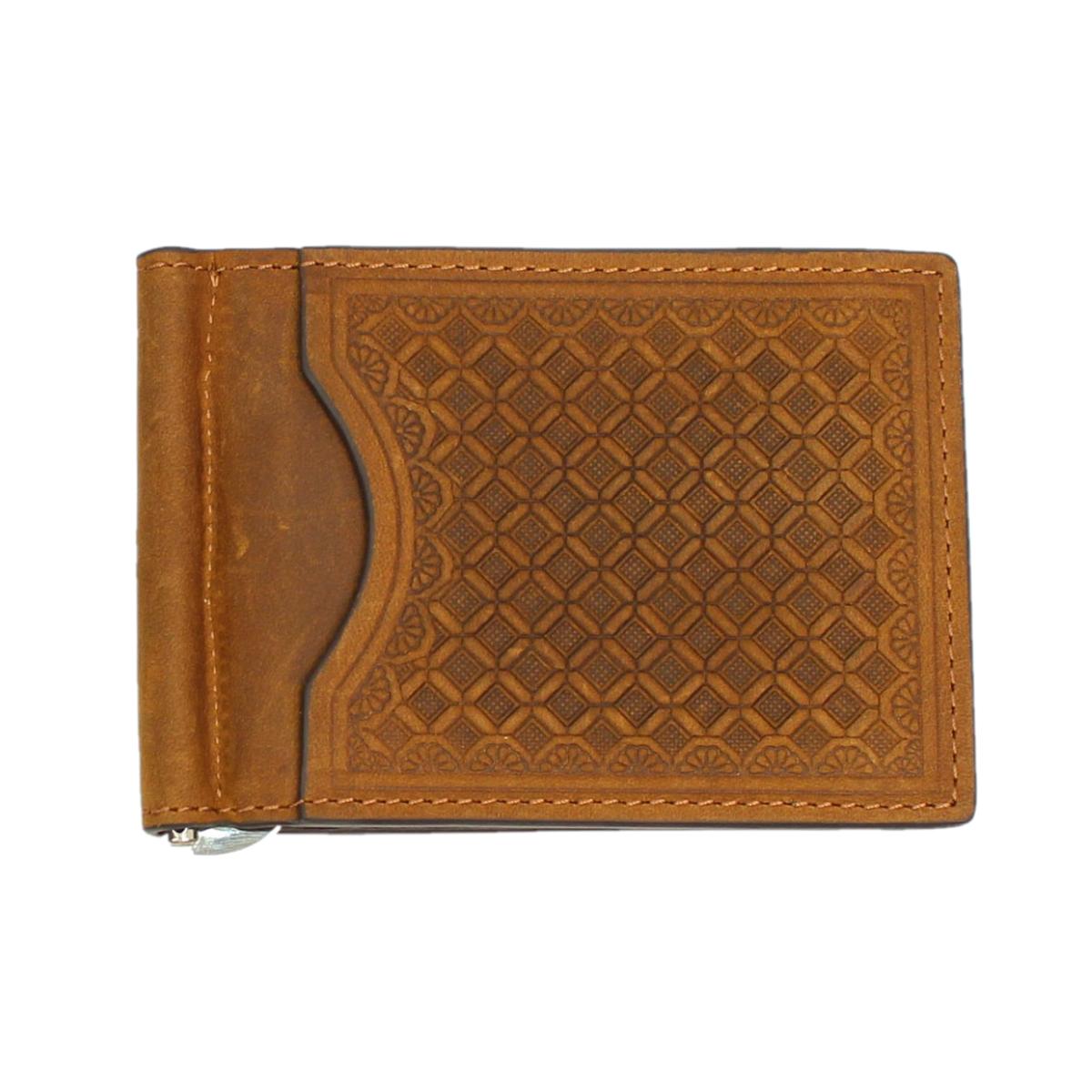 Nocona Men's Brown Bi-Fold Money Clip Wallet N5412744