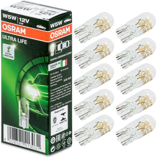 10X W5w Standlicht T10 Glassockel 5W 12V Osram Ultra Life Birne Auto Lampe Kfz