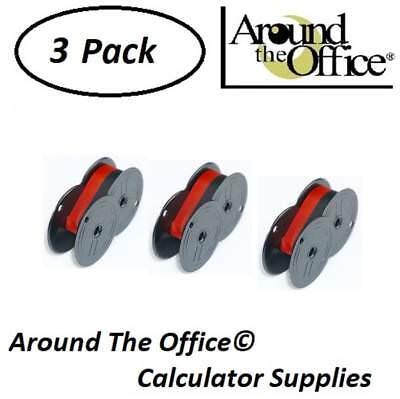 Victor Model 1460-4 Compatible Calculator RS-6BR Twin Spool Black /& Red Ribbon
