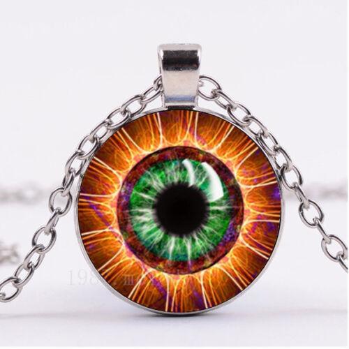 Photo Cabochon Verre Collier Argent Fashion Pendentif ( Tesla/'s Eye ) #966