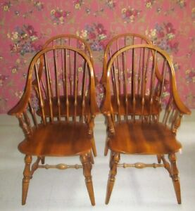 Image Is Loading Ethan Allen Circa 1176 MapleBowback Windsor Dining Room