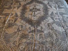 Antico Vintage tessile tessuto copertura letto Gettare