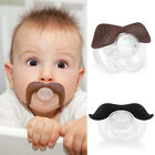 Cute Mustache Baby Boy Girl Infant Pacifier Orthodontic Dummy Beard Nipples