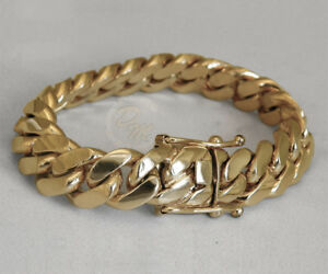 Solid 14k Gold Miami Men S Cuban Curb