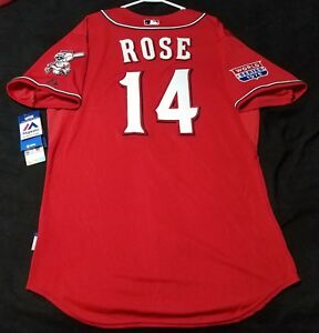cf96be838a8 Authentic Majestic 44 LARGE CINCINNATI REDS LOS ROJOS PETE ROSE COOL ...