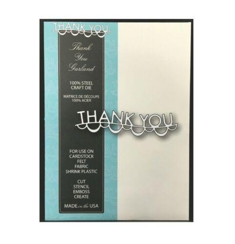 Thank You Metal Die Cut Stencil Word Garland Border Memory Box Cutting Dies