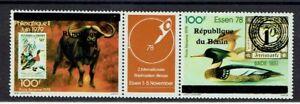 OISEAU-CANARD-Benin-surcharge-de-1997-2000-1117-et-1118-cote-120euro-1