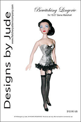 "Bewitching Lingerie Doll Clothes Sewing Pattern for 15.5"" Gene Marshall"
