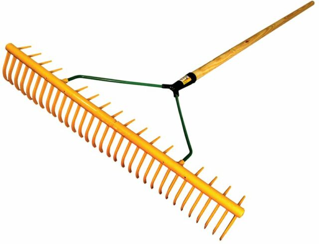 Polypropylene Rake-Leaf and Grass, 64cm wide with back supports, Garden, Lawn