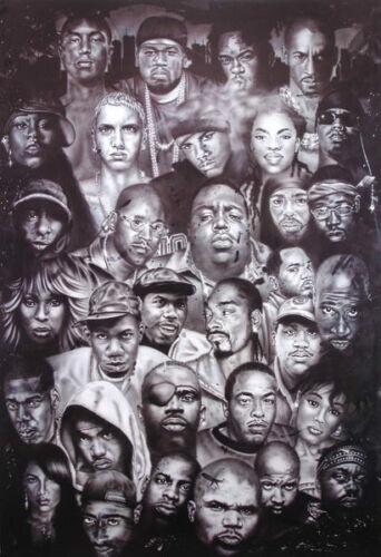 BIGGIE KRS-ONE EMINEM 50 DRE Brand New HIp Hop Rap Poster BEST RAP QUOTES