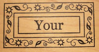 your Wood Mounted Stamp By Outlines Rubber Stamps